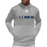 Adidas Grey Team Issue Hoodie-UC DAVIS