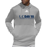Adidas Grey Team Issue Hoodie-UC DAVIS U of C