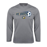 Performance Steel Longsleeve Shirt-Soccerball with Flying Ball