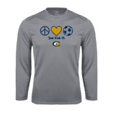 Performance Steel Longsleeve Shirt-Soccerball Just Kick It
