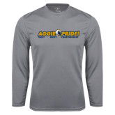 Performance Steel Longsleeve Shirt-Aggie Pride w/ Tagline