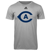 Adidas Climalite Sport Grey Ultimate Performance Tee-Secondary Athletics Mark