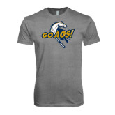 Next Level Premium Heather Tri Blend Crew-Go Ags Logo
