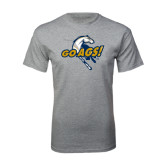 Grey T Shirt-Go Ags Logo