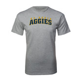 Grey T Shirt-Arched UC Davis Aggies