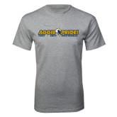 Grey T Shirt-Aggie Pride w/ Tagline