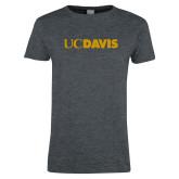 Ladies Dark Heather T Shirt-UC DAVIS