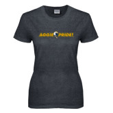 Ladies Dark Heather T Shirt-Aggie Pride