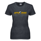 Ladies Dark Heather T Shirt-Aggie Pride w/ Tagline