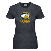 Ladies Dark Heather T Shirt-Primary Mark