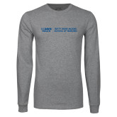 Grey Long Sleeve T Shirt-Betty Irene Moore School of Nursing