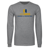 Grey Long Sleeve T Shirt-School of Education