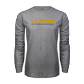 Grey Long Sleeve T Shirt-UC DAVIS U of C