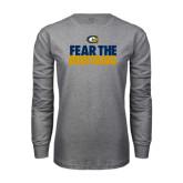 Grey Long Sleeve T Shirt-Fear The