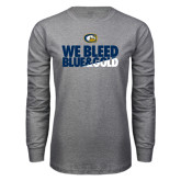 Grey Long Sleeve T Shirt-We Bleed