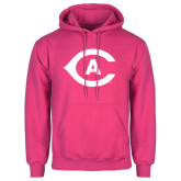 Fuchsia Fleece Hoodie-Secondary Athletics Mark