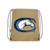Nylon Vegas Gold Drawstring Backpack-Official Logo