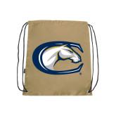 Nylon Vegas Gold Drawstring Backpack-Official Logo