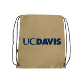 Nylon Vegas Gold Drawstring Backpack-UC DAVIS
