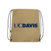 Nylon Vegas Gold Drawstring Backpack-UC DAVIS