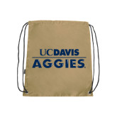 Nylon Vegas Gold Drawstring Backpack-UC DAVIS Aggies