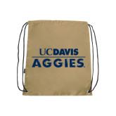 Nylon Vegas Gold Drawstring Backpack-UC DAVIS Aggies