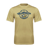 Performance Vegas Gold Tee-Basketball Arched