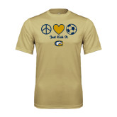 Performance Vegas Gold Tee-Soccerball Just Kick It