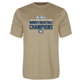 Performance Vegas Gold Tee-2018 Regular Season Womens Basketball Champions
