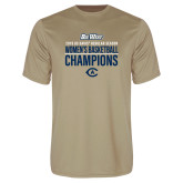Performance Vegas Gold Tee-2019 Womens Basketball Regular Season Champions