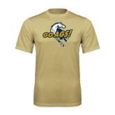 Performance Vegas Gold Tee-Go Ags Logo