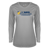 Ladies Syntrel Performance Platinum Longsleeve Shirt-Graduate School of Management Flat