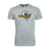 Next Level SoftStyle Heather Grey T Shirt-Go Ags Logo