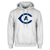 White Fleece Hoodie-Secondary Athletics Mark