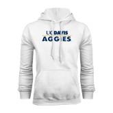 White Fleece Hoodie-UC DAVIS Aggies