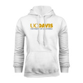 White Fleece Hoodie-UC DAVIS U of C