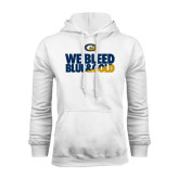 White Fleece Hoodie-We Bleed