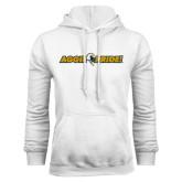 White Fleece Hoodie-Aggie Pride