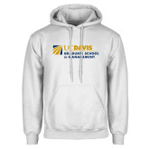 White Fleece Hoodie-Graduate School of Management Flat