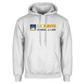 White Fleece Hoodie-School of Law