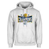 White Fleece Hoodie-2018 Football Conference Champions