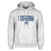 White Fleece Hoodie-2018 Big Sky Football Champions