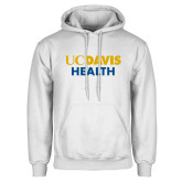 White Fleece Hoodie-UC Davis Health
