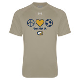 Under Armour Vegas Gold Tech Tee-Soccerball Just Kick It