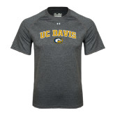 Under Armour Carbon Heather Tech Tee-Arched UC Davis Logo
