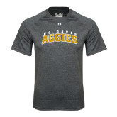 Under Armour Carbon Heather Tech Tee-Arched UC Davis Aggies