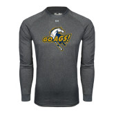 Under Armour Carbon Heather Long Sleeve Tech Tee-Go Ags Logo