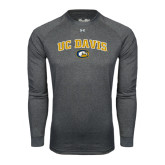 Under Armour Carbon Heather Long Sleeve Tech Tee-Arched UC Davis Logo