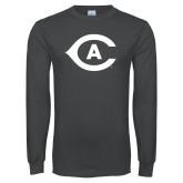 Charcoal Long Sleeve T Shirt-Secondary Athletics Mark