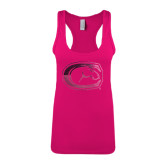 Next Level Ladies Raspberry Ideal Racerback Tank-Official Logo Foil